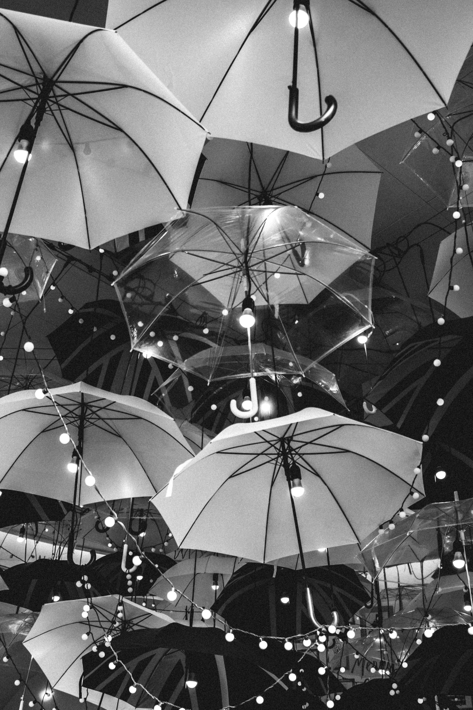 blacknwhite umbrellas