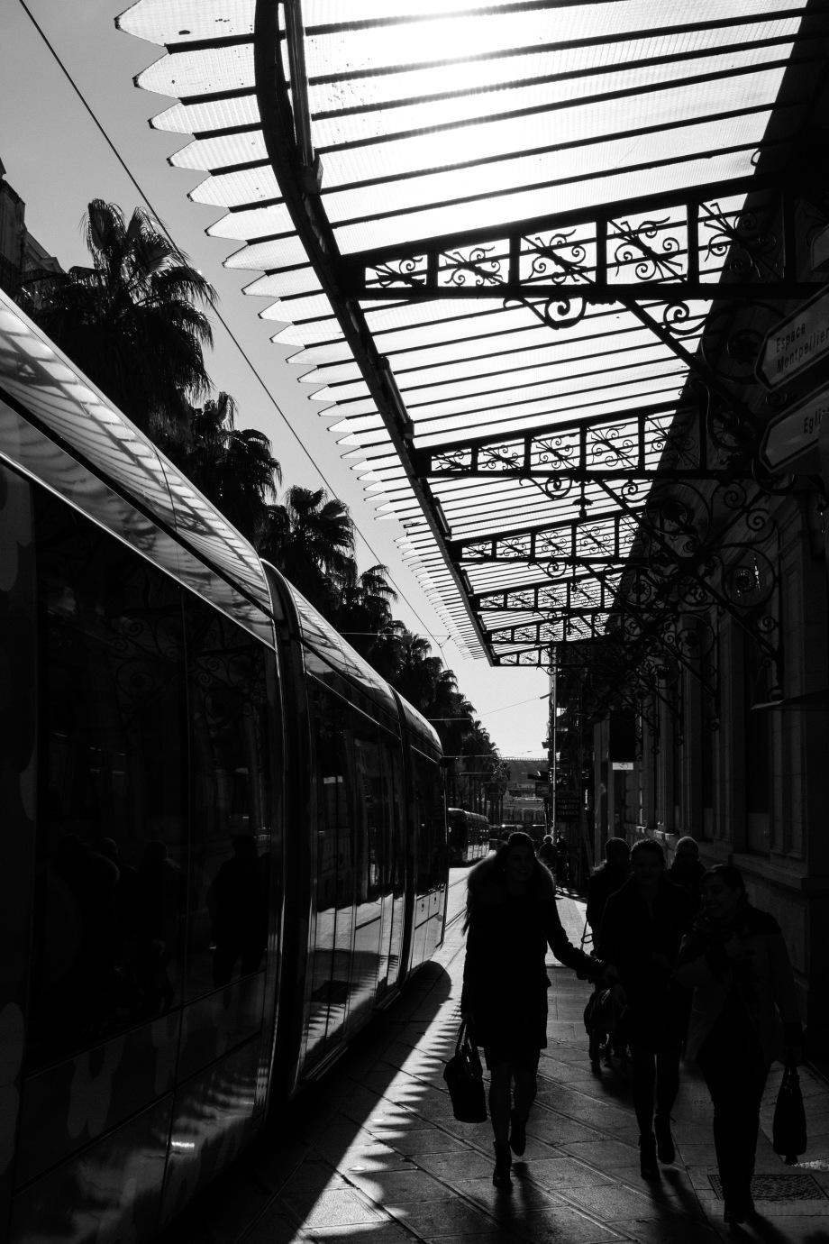 people & tram